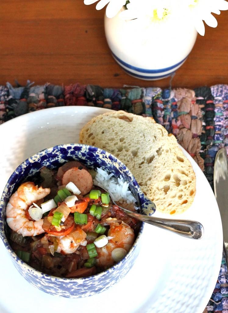 IMG 2309 748x1024 - Slow Cooker Jambalaya With Shrimp