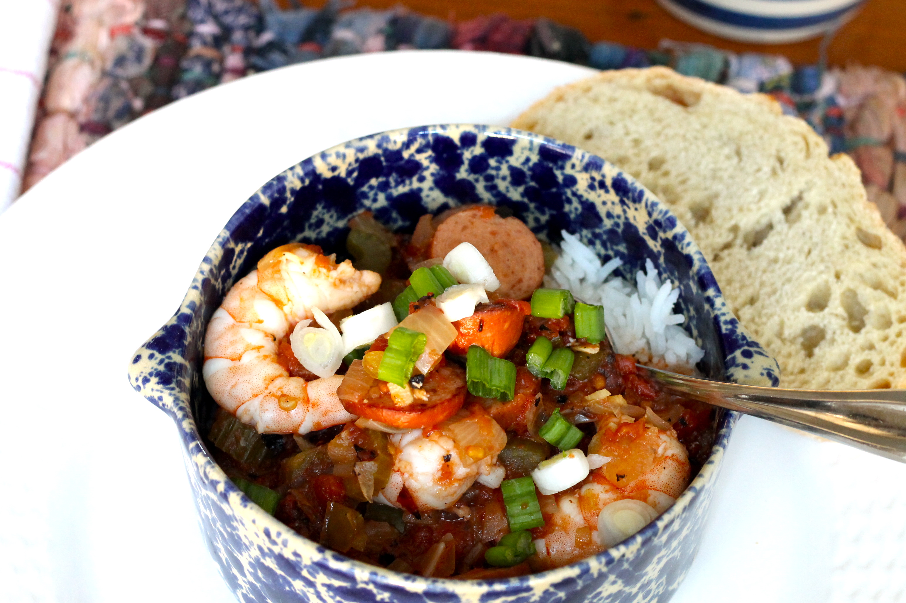 Slow cooker jambalaya with shrimp - The 2 Seasons