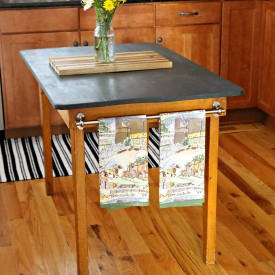 This table became a great kitchen island. - The 2 Seasons