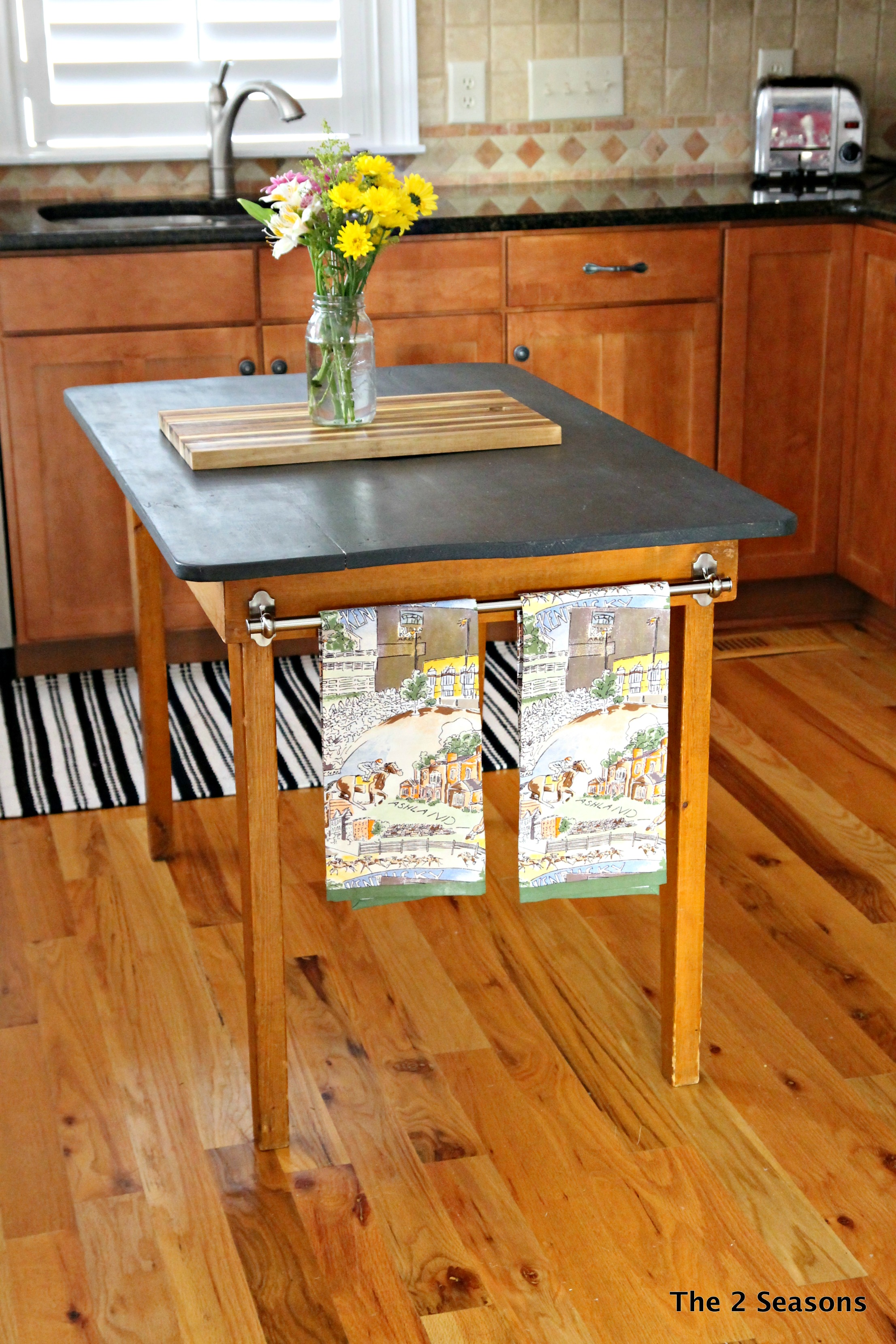 Kitchen Island 2 - DIY Marble Top Kitchen Island
