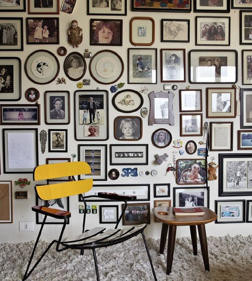 Gallery wall from Huffington Post