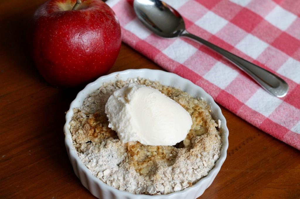 Individual apple crisps