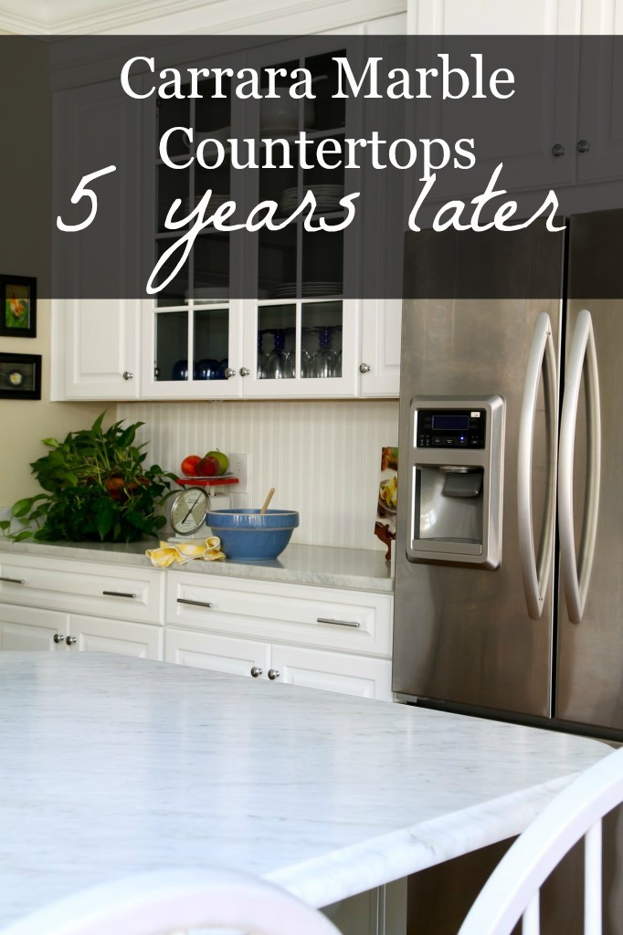 Review of my Carrara marble countertops 5 years later.