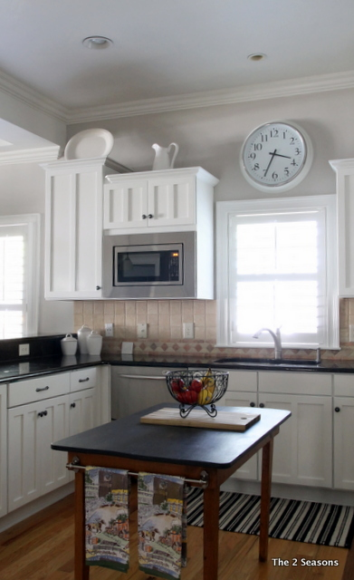Painted kitchen cabinets - The 2 Seasons