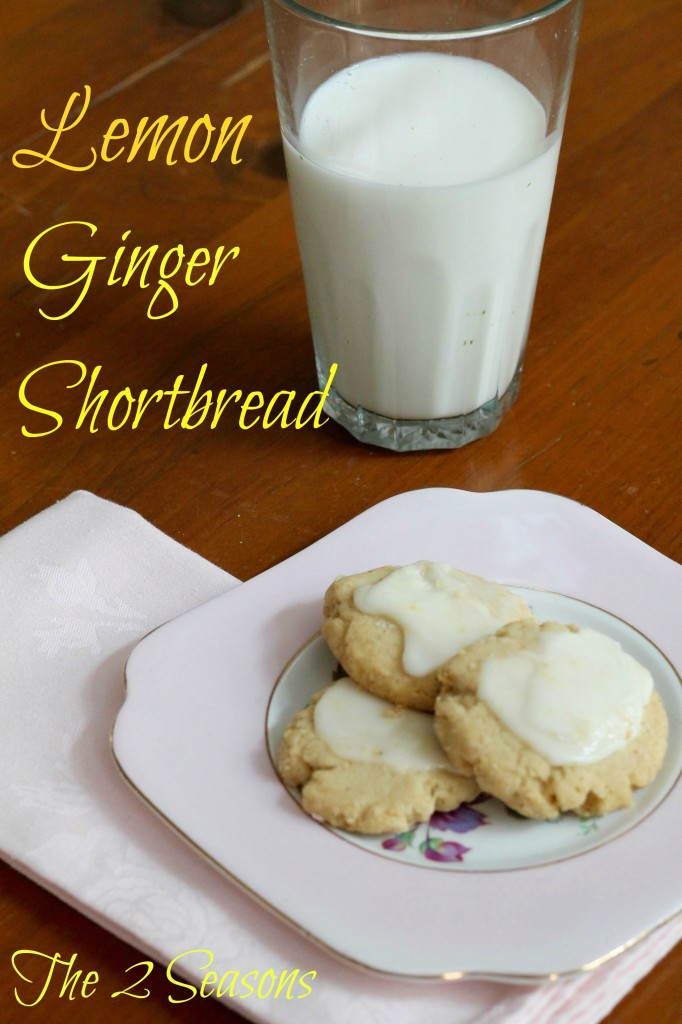 Lemon Ginger Shortbread - The 2 Seasons
