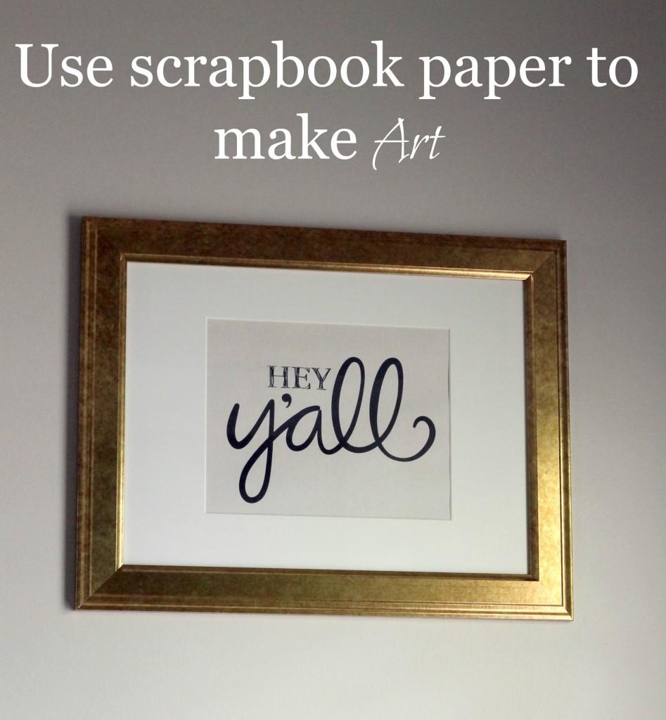 Scrapbook Paper Art