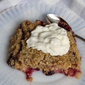 Rhubarb and Berry Crisp - The 2 Seasons