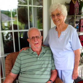 Grandma and Grandad celebrate their 70th anniversary