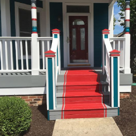 Improved curb appeal by painting steps - The 2 Seasons