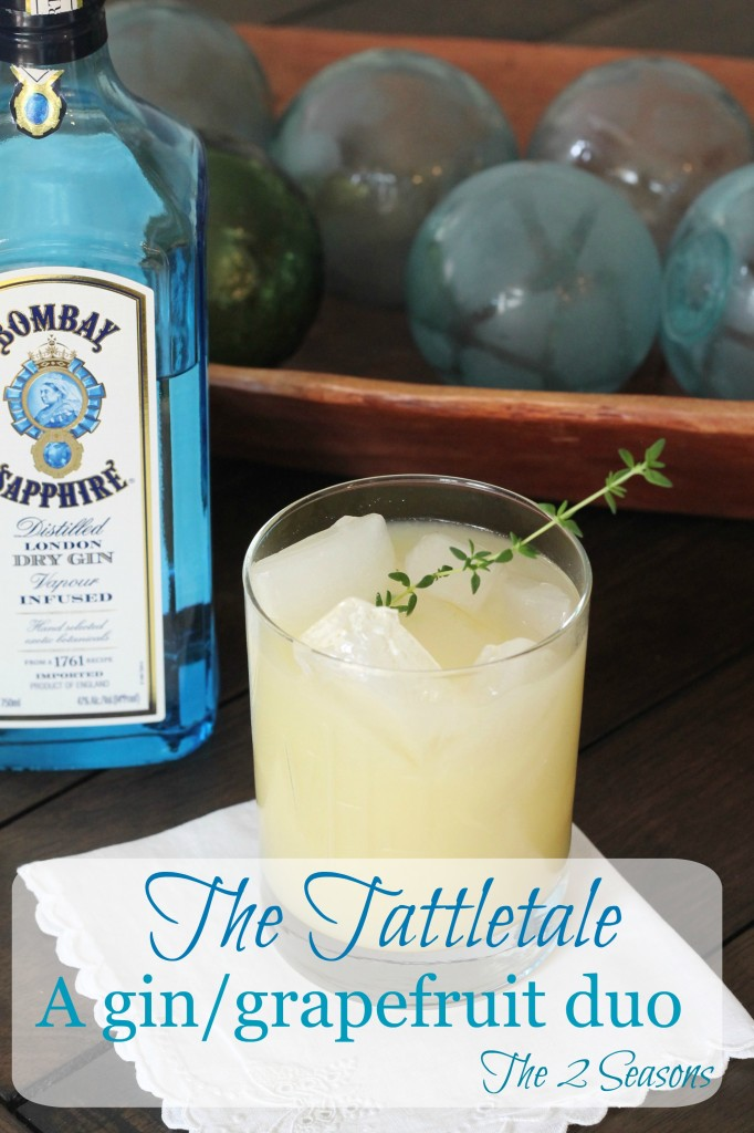 The Tattletale - a gin/grapefruit/thyme cocktail - The 2 Seasons