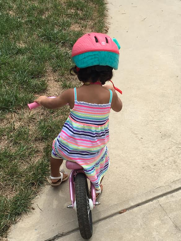 Biking - Little Miss Adoption Update - Three Months Home