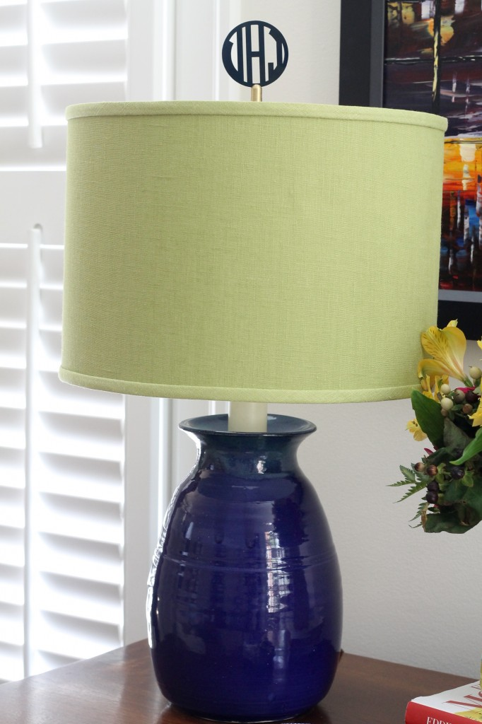 IMG 2990 682x1024 - Personalize a Lamp with a Monogrammed Finial