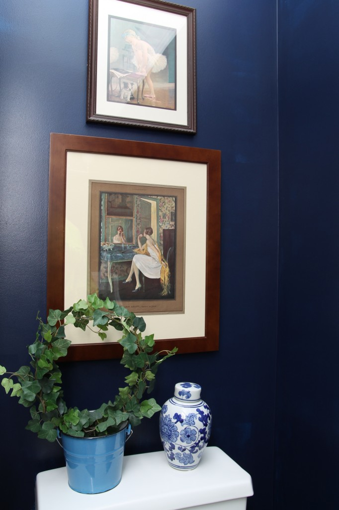 Powder room art - The 2 Seasons