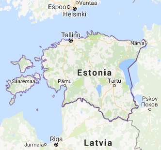 Screen shot of Estonia from Google.