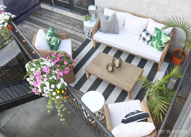 balcony overhead shot patio - Seasons' Saturday Selections
