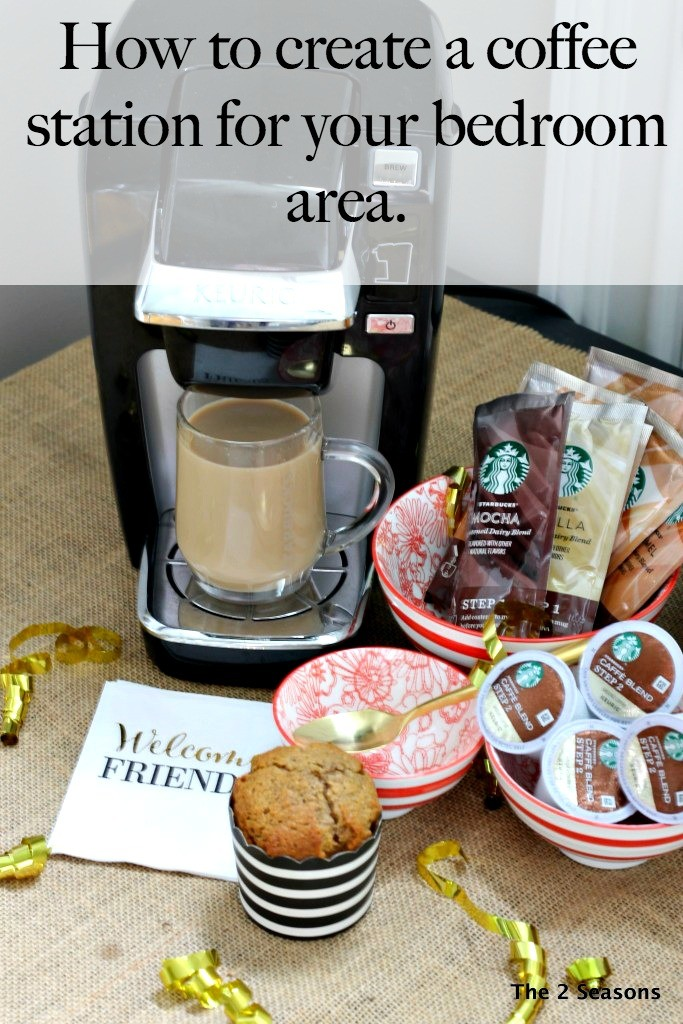 How To Create A Coffee Station For Your Bedroom Area.