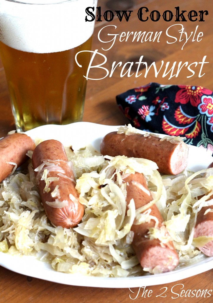 Slow Cooker German Style Bratwurst - The 2 Seasons