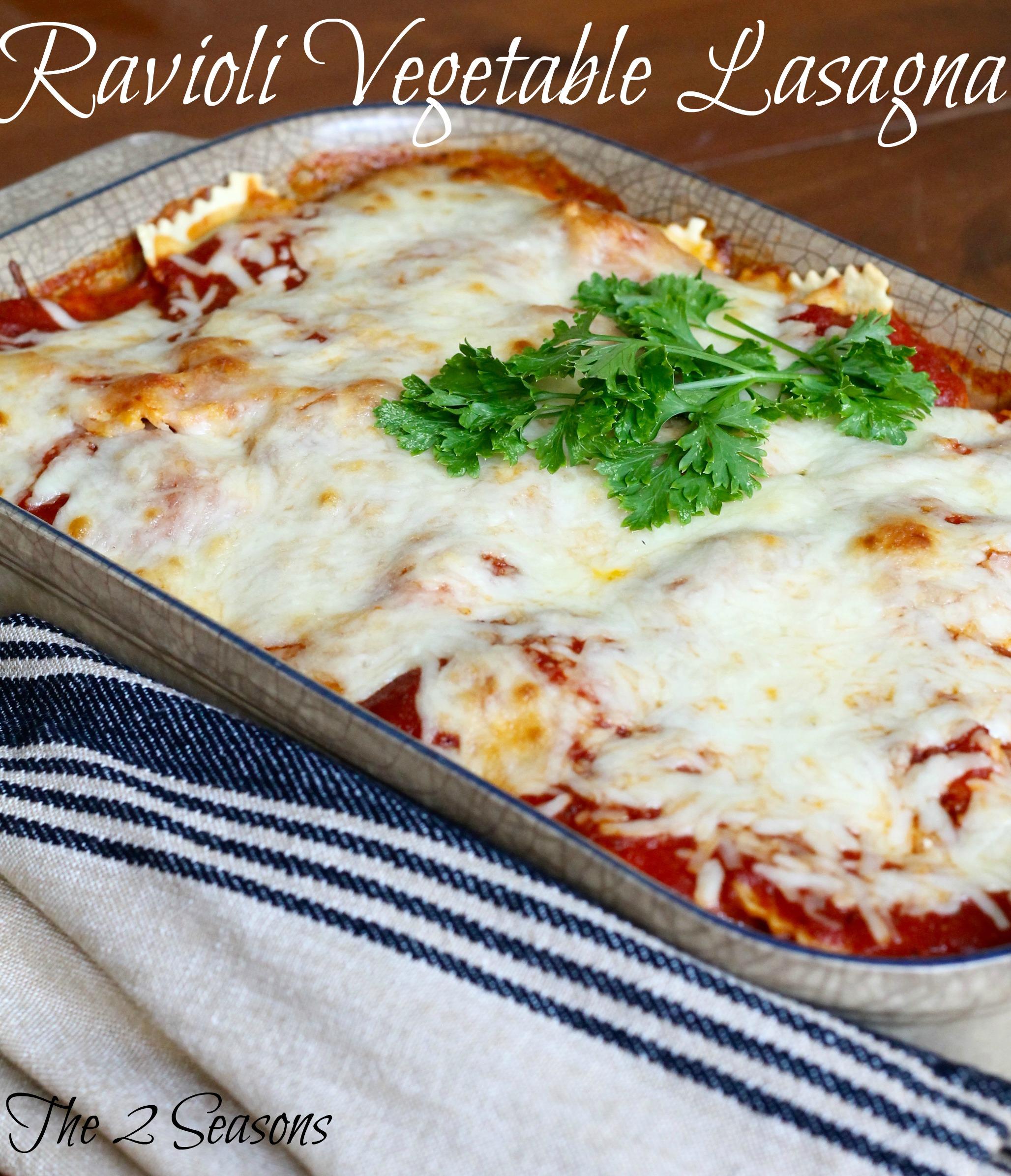 Ravioli Vegetable Lasagna