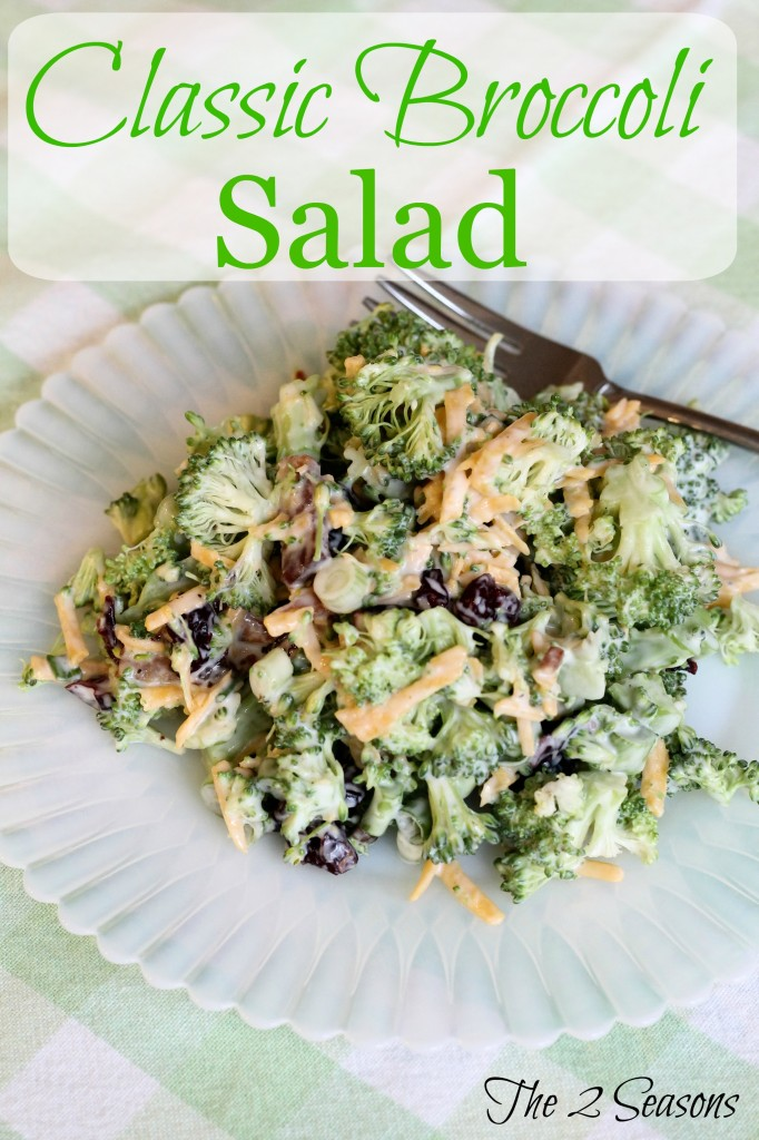 Classic Broccoli Salad - The 2 Seasons