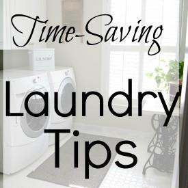 Time saving laundry tips - The 2 Seasons