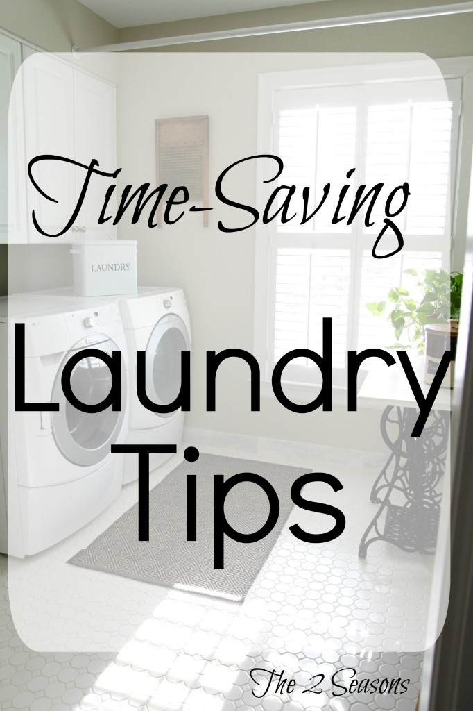 Time saving laundry tips - The 2 Seasons