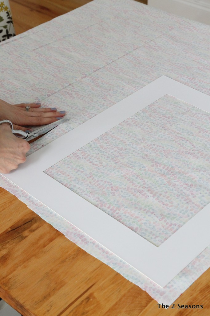 How to update vintage prints with a new mat.