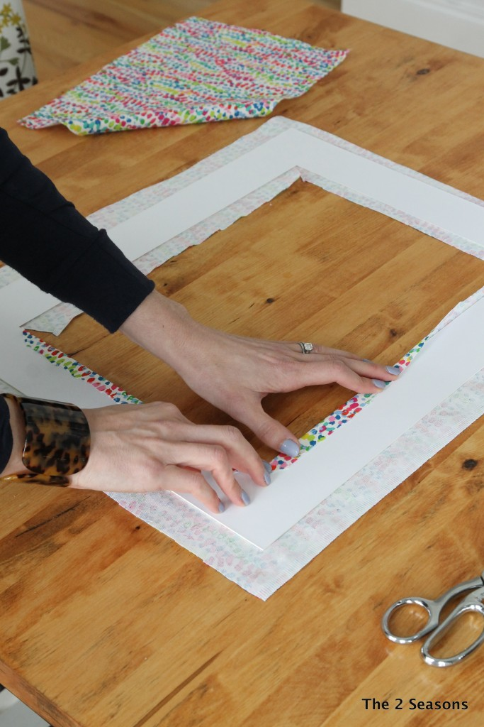 How to update vintage prints with a modern mat.