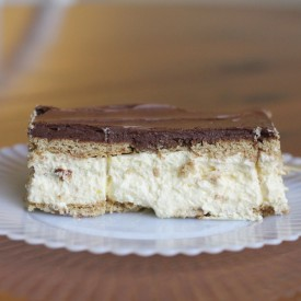 No Bake Eclair Cake - The 2 Seasons