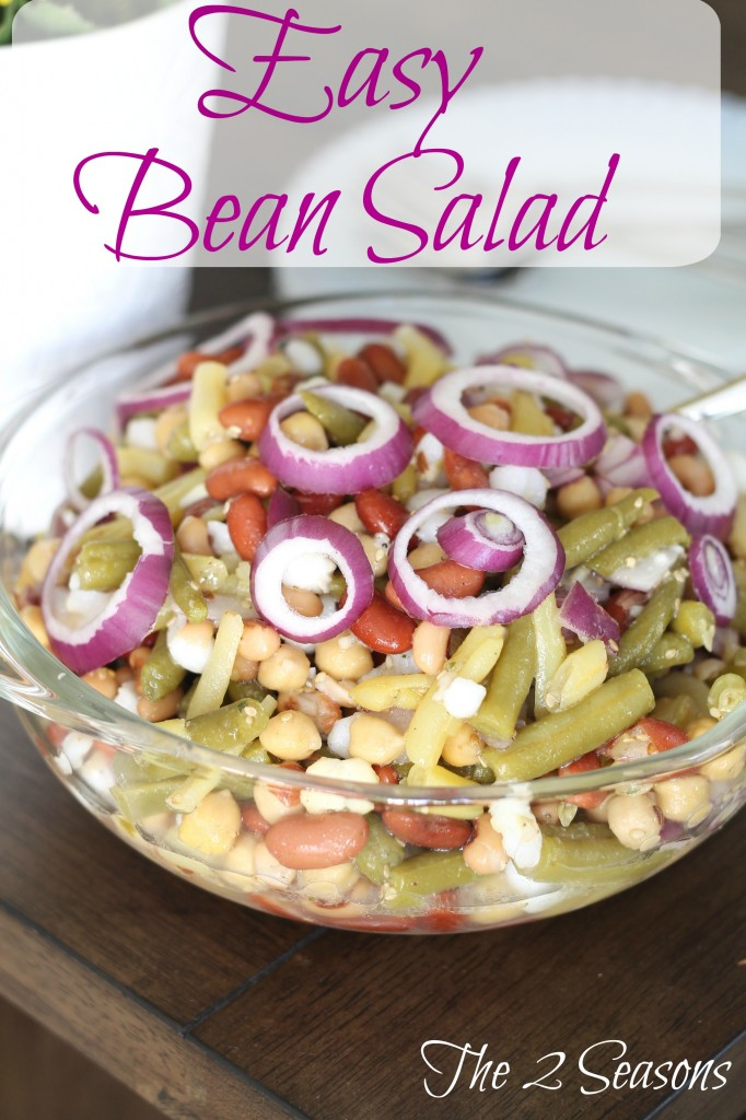 Easy Bean Salad - The 2 Seasons