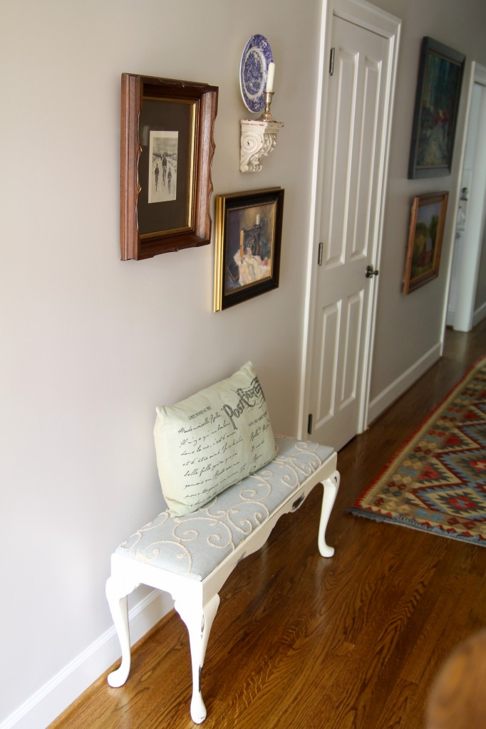 Foyer bench and look - The 2 Seasons