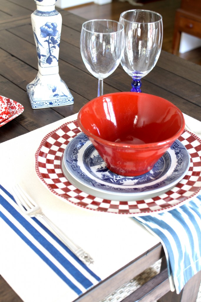 DIY French ticking placemats - The 2 Seasons
