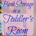 Book Storage in a Toddlers Room 120x120 - Bathroom Storage