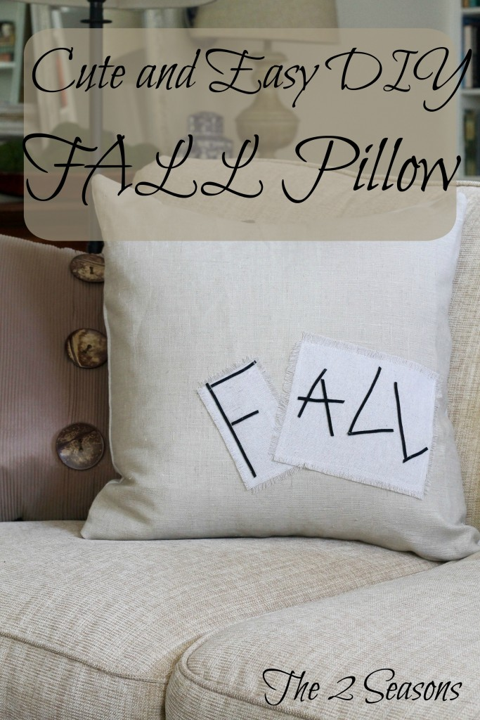 Cute and Easy DIY Fall Pillow - The 2 Seasons