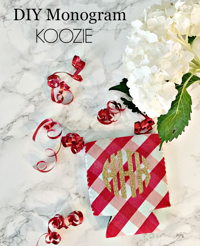 DIY Koozie - DIY Monogrammed Koozie