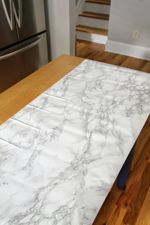Island Paper - DIY Marble Top Kitchen Island