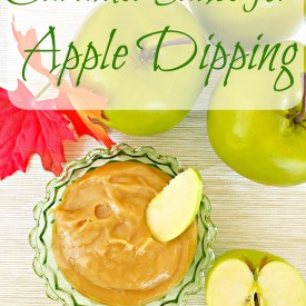 Caramel sauce for dipping apples - The 2 Seasons