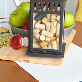 Fall kitchen centerpiece/vignette - The 2 Seasons