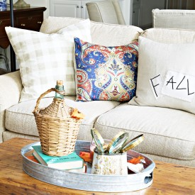 Great room fall pillows - The 2 Seasons