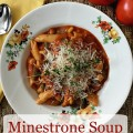 Minestrone soup makes a great comforting meal on a cool day. - The 2 Seasons
