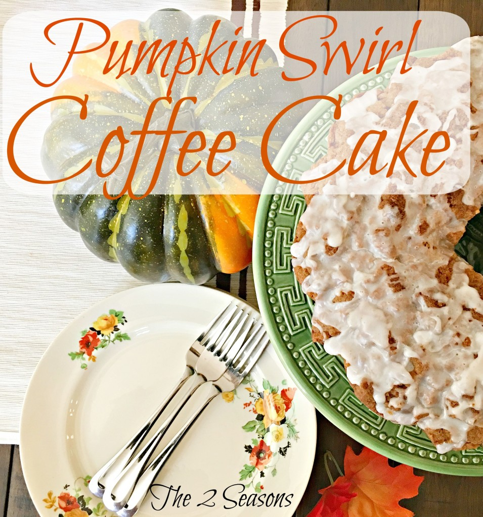 Pumpking swirl coffee cake - The 2 Seasons