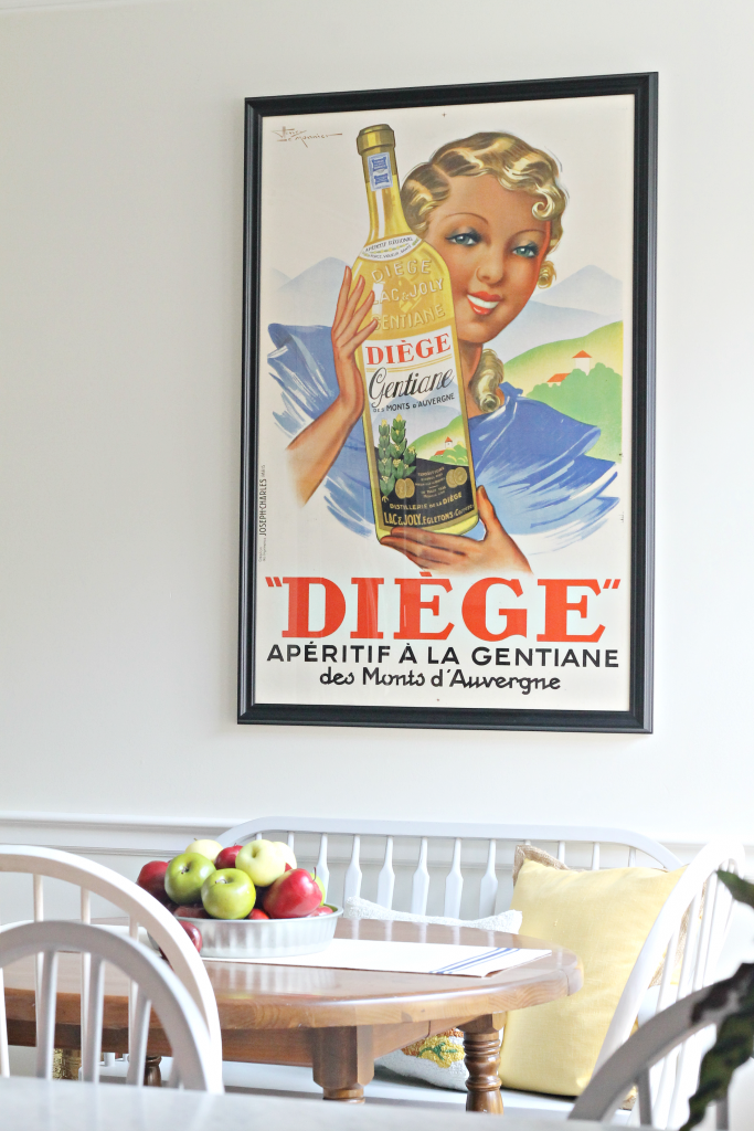 Vintage poster in kitchen - The 2 Seasons