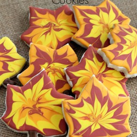 How to decorate fall leaf cookies - The 2 Seasons