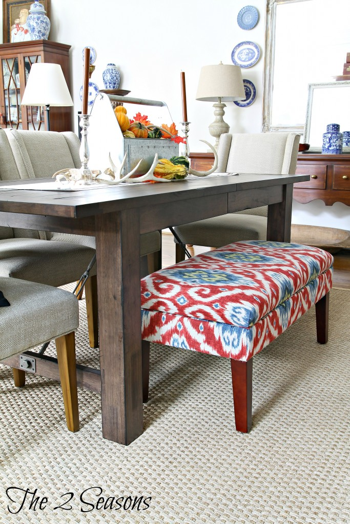 Great room table and bench - The 2 Seasons