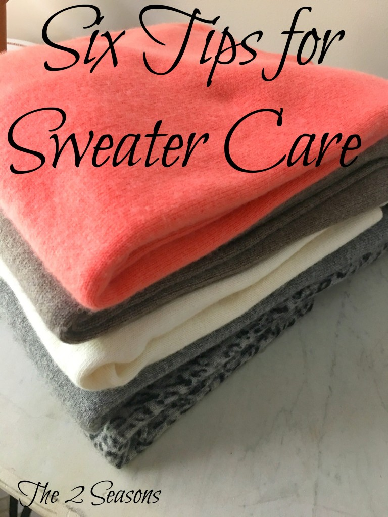 Six Tips for Sweater Care - The 2 Seasons
