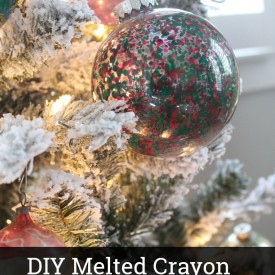 DIY Melted Crayon Ornaments - The 2 Seasons