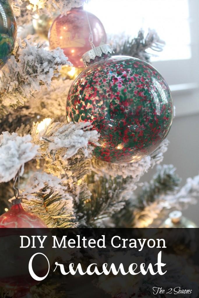 DIY Melted Crayon Ornaments - The 2 Seasons