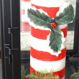 DIY Candy Cane Candle - The 2 Seasons
