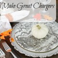 Silver Plated Trays Make Great Chargers for the Holiday Table - The 2 Seasons