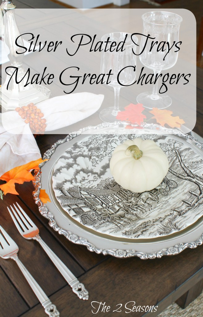 Silver Plated Trays Make Great Chargers 657x1024 - A Great Idea for Your Holiday Table