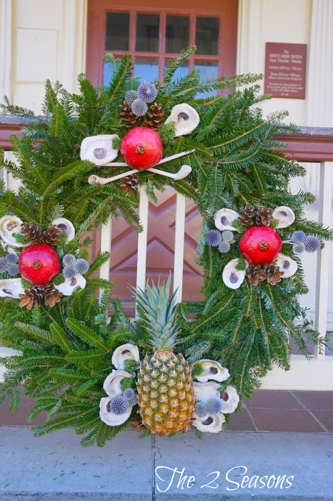 Wreath 12 681x1024 - The Christmas Wreaths at Colonial Williamsburg